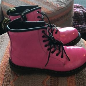 Hot Pink Patent Leather Doc Martens